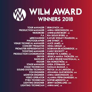 WILM Awards 2018