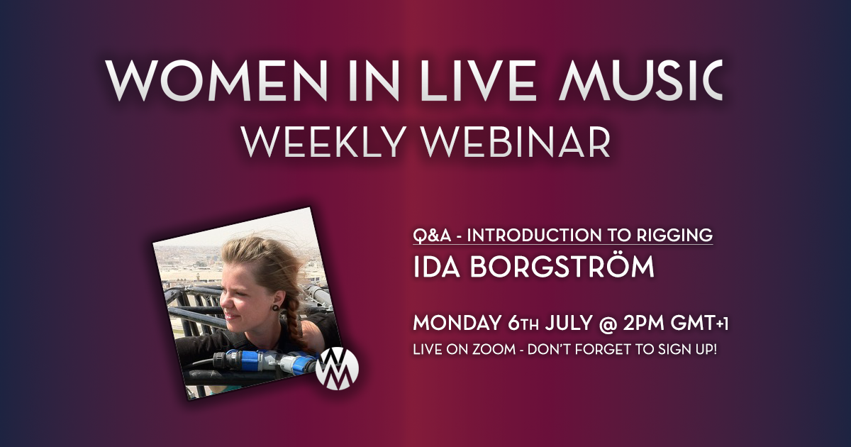 WILM Weekly Webinar 10 - Intro to Rigging & Q&A with Ida Borgström